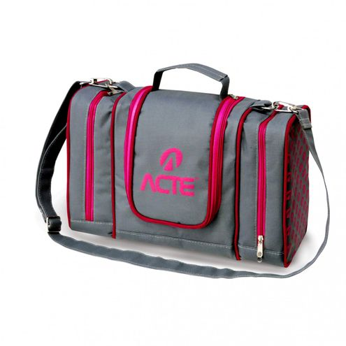 Lunch Box Termica Big 13L Acte Sports Cinza e Rosa