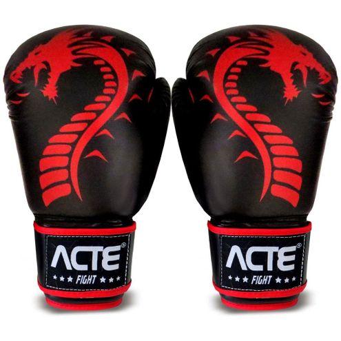 Luvas de Boxe Dragon P4 Acte Sports Tamanho 10 - Vermelho