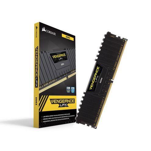 Memoria Desktop Gamer Ddr4 Corsair Cmk8Gx4M1A2400C16 8Gb 2400Mhz Dimm Cl16 Vengeance Lpx Black