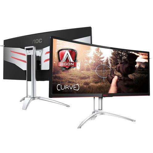 Monitor Gamer Entusiasta Aoc Ag352Qcx 35 Led 2560X 1080 Ultra Wide Free-Sync Vga Dvi Hdmi