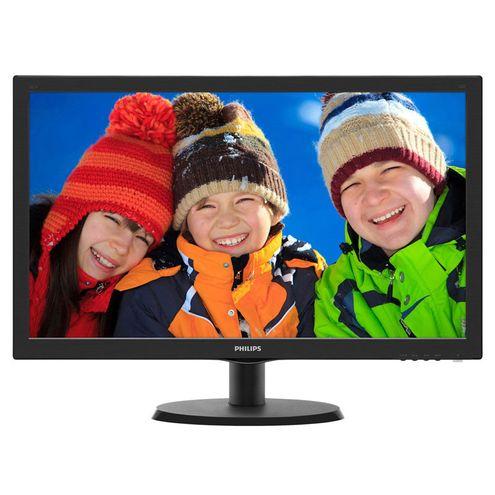 Monitor Led 18,5 Philips 193V5Lsb2 18,5 Led 1366 X 768 Wide Vga Vesa Preto