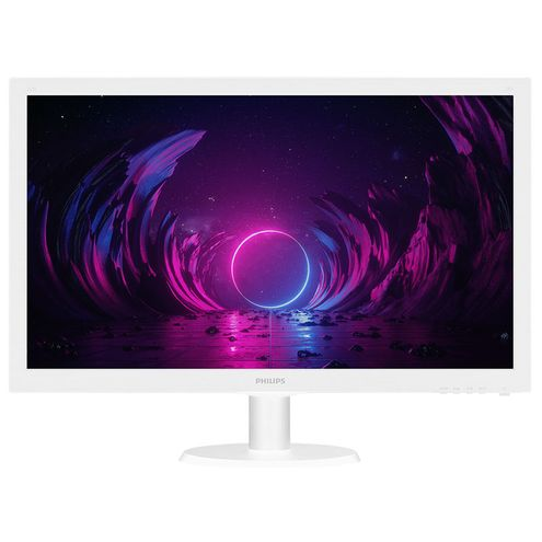 "Monitor Led Philips 21,5"" Led 1920 X 1080 Full Hd Widescreen Hdmi Branco"