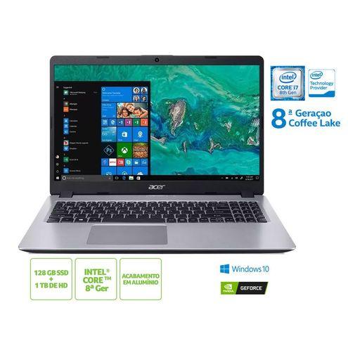 Notebook Acer Nxhd9Al005 A515-52G-79H1 I7 8565U 8Gb 128 Ssd 1Tb Hd Mx130 Win10 15.6