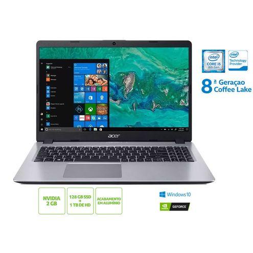 Notebook Intel c/ Tec Numerico Acer Nxhd9Al003 A515-52G-50Nt I5 8265U 8Gb 128 Ssd 1Tb Hd Mx130 15.6