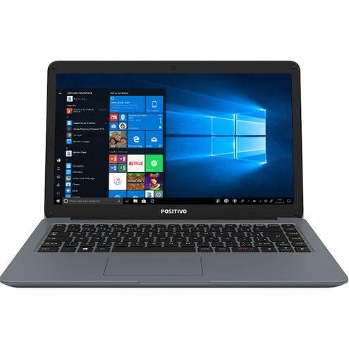 "Notebook Positivo Motion I341Ta Intel Core I3 4Gb Ram 1Tb Hd Tela 14"" Led Hd Win 10 Home - Cinza"