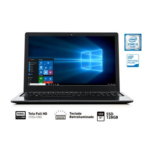 Notebook Vaio Vjf154F11X-B0811B Fit 15S I3-6006U 4Gb 128Gb Ssd 15.6 Fullhd Teclado Retroilu Win10 Sl