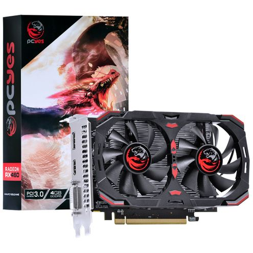 Placa de Video Amd Radeon Rx 460 4Gb Gddr5 128 Bits Dual-Fan - Pj460Rx12804G5Df