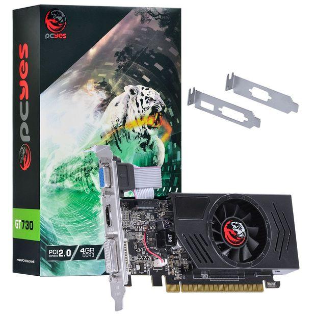 Placa de Video Nvidia Geforce Gt 730 4Gb Ddr3 128 Bits com Kit Low Profile Incluso