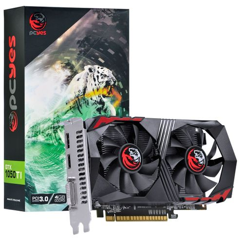 Placa de Video Nvidia Geforce Gtx 1050 Ti 4Gb Gddr5 128 Bits Dual-Fan - Pa1050Ti12804G5Df