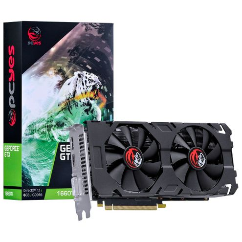 Placa de Video Nvidia Geforce Gtx 1660 Ti 6Gb Gddr6 192 Bits Dual-Fan - Pa166019206G6