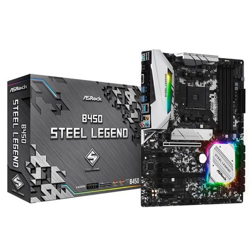 Placa Mãe Asrock B450 Steel Legend Am4 Usb 3.1 Gen1 / Type-C / Ddr4 / Displayport, Hdmi