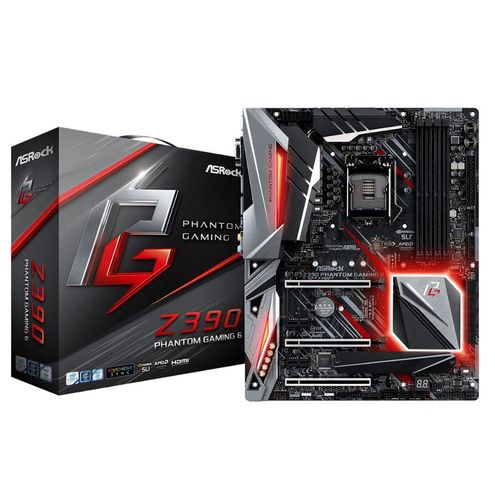 Placa Mãe Asrock Z390 Phantom Gaming 6 Intel 1151 Ddr4 Hdmi/dp/d-Sub/usb3.1/tipe-C /ultram.2 8ª e 9G
