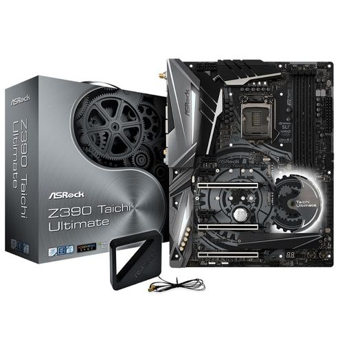 Placa Mãe Asrock Z390 Taichi Ultimate Intel 1151 Ddr4 Hdmi/dp Usb3.1/tipe-C /ultra M.2 8ª /9ª Ger
