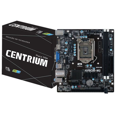 Placa Mae Lga 1151 Intel Centrium C2018-H310Ch5-M2 Matx Ddr4 2666Mhz Chipset H310 Hdmi Vga Ppb Box