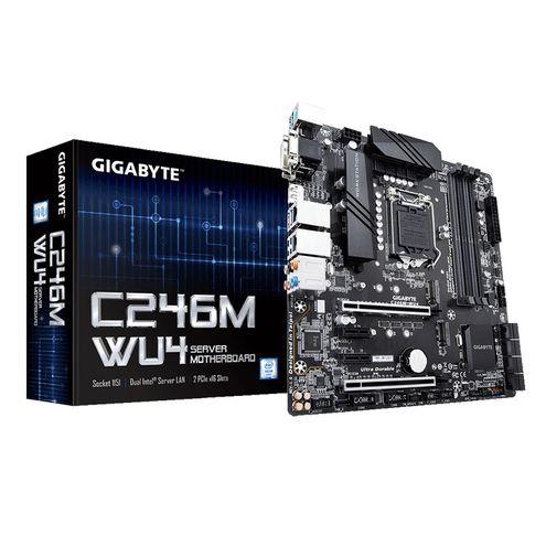 Placa Mae Servidor Intel Gigabyte Xeon e-2000 Lga1151 Ddr4 Ecc Udimm Chipset C246