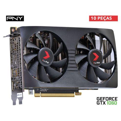 Placa de Vídeo Nvidia Geforce Gtx 1060 Xlr8 Gaming Oc 6Gb Gddr5X 192-Bit - Vcggtx10606Xgpb-Oc