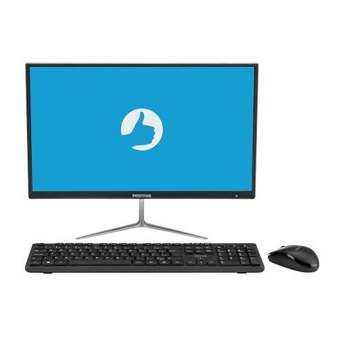 """Positivo Master A1120 Intel Celeron 4Gb Ram 64Gb Hd Emmc Tela 21.5"""" Fhd Win 10 - Preto / Cinza"""