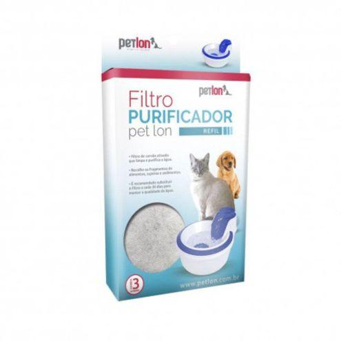 Refil Filtro Purificador Petlon (Cx com 3 Unidades)