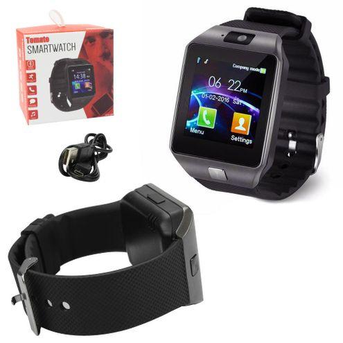 Relógio Swartwatch Bluetooth Android Ios Faz e Recebe Ligações - Prata - Tomate Mtr-004