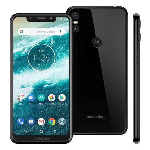"Smartphone Motorola One Xt1941 64Gb Dual Tela 5.9"" 2.0 Ghz Octa-Core Qualcomm 4G Câmera 13 + 2Mp"