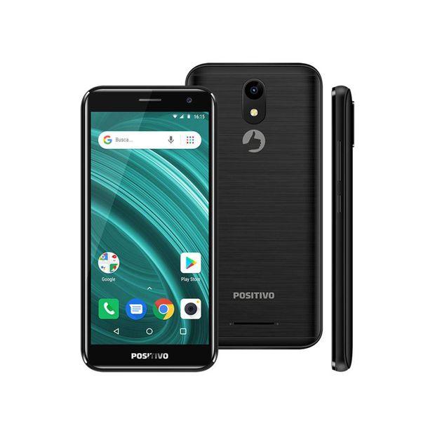 Smartphone Positivo Twist 2 Go S541 Quad-Core 1Gb Ram Dual Chip Android Oreo 5'' 8Gb- Preto