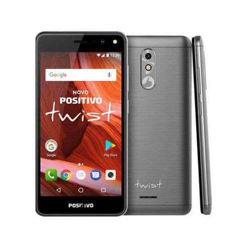 "Smartphone Positivo Twist S511 2018 Quad-Core 1Gb Ram Dual Chip 16Gb Android 7.0 Tela 5"" - Cinza"