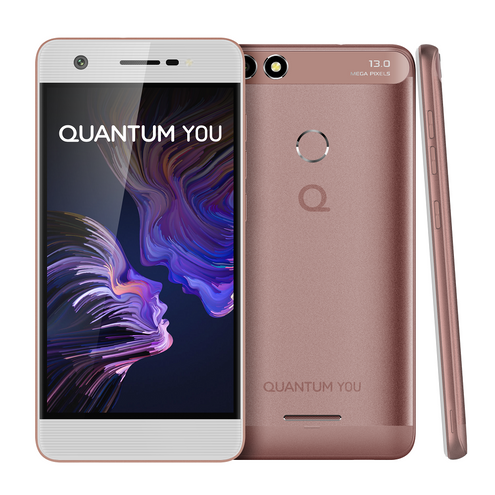 "Smartphone Quantum You 32Gb 3Gb Ram Android 7 Dual Chip Tela 5"" Ips Hd Câmera 13Mp - Rosa"