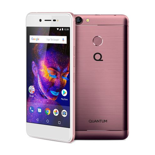 "Smartphone Quantum You e 32Gb 3Gb Ram Android 7 Dual Chip Tela 5"" Hd Câmera 13Mp - Rosa"