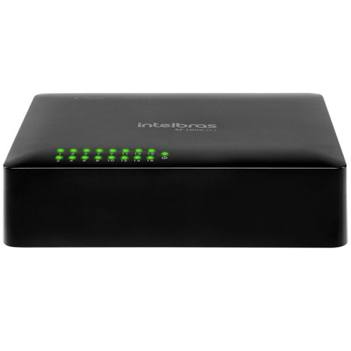 Switch Fast Intelbras Sf 1600 Q+ 16 Portas 10/100