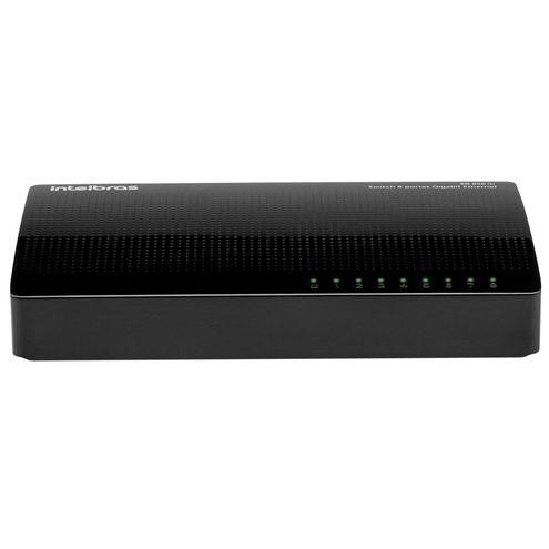 Switch Giga Intelbras Sg 800 Q+ 08 Portas 10/100/1000