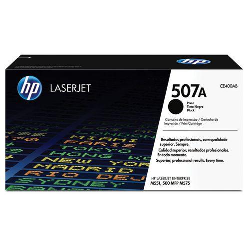 Toner Laserjet Color Hp Suprimentos Ce400Ab Hp 507A Preto M551Dn / M551N / M575F
